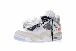 103840edbbac 2018 Hot Sale Jumpman IV 4 Encore X White Grey Orange Basketball Shoes  Original quality 4s Men Training designer Sneakers Size 40-47