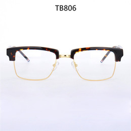 oem metal case NZ - High-qualityTB806 men glasses frame eye-brow big square rim prescription glasses 54-21-145 plank+metal frame fullset case OEM factory outlet