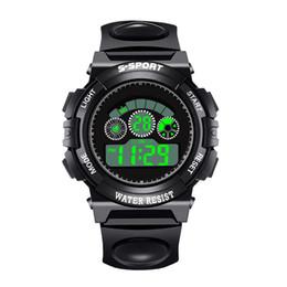 Men Digital Wrist Watches NZ - 2018 Men's Watches Digital Men Sports Watch LED Analog Silicone Band Quartz Alarm Date Wrist Watch Waterproof Watches