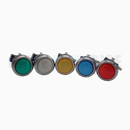 ArcAde mAchine push buttons online shopping - MM Illuminated silver coated Push Button with microswitch for arcade game machine multi colors available