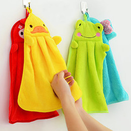 $enCountryForm.capitalKeyWord Australia - Whosale 2018 Cute Animal New Candy Colors Soft Coral Velvet Cartoon Animal Towel Can Be Hung Kitchen Cleaning Cloths