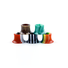 $enCountryForm.capitalKeyWord UK - Colorful Rainbow Mini Super Tank Epoxy Resin Drip Tips Mouthpiece For Tobeco MINI SUPERTANK Drip Tip Wide Bore Vape