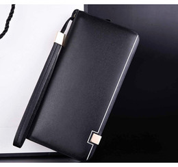 Discount twist ties for bags - PU Leather Zipper Money Wallet For Men Women Coin Pouches Handy Purses Phone Bags Female Male Change Holder Zip Coin-Pur
