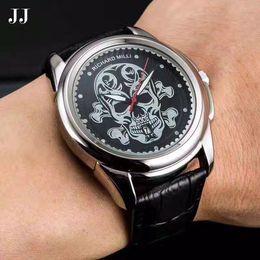 skull pirate watch 2019 - New Richard Milli Pirate Skull Watches Men Montre Homme Style Quartz Wrist Watch Men Rejoles Business Male Clock Relogio