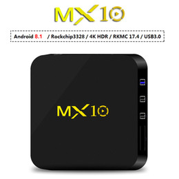 $enCountryForm.capitalKeyWord Canada - MX10 Android 8.1 TV Box 4GB 32G RK3328 Quad Core Smart Streaming Media Player 2.4G Wifi 4K 3D Movie 4G32G TVbox