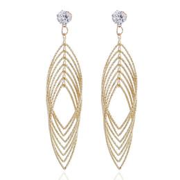 $enCountryForm.capitalKeyWord UK - Japan and South Korea Fashion Accessories Ancient Antique Hollowed Metal Leaf Ear Pendant Fashion Exaggerated Street Ear Earrings CE334