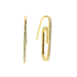 d93eaf492ae2 Boda nueva joyería del oído de la manera superior Pin de seguridad  Pendientes para las mujeres pendientes de la declaración Pendientes broche  forma regalos ...