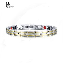 bio magnetic therapy 2019 - Health Power Bracelets Bangles for Men Jewelry with 4 s Magnetic Bio Energy Therapy Male Bracelet Accessories 8.26