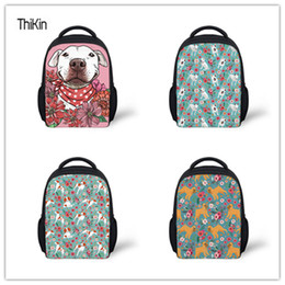 0c6e1f7f86d9 THIKIN Kindergarten School Bags for Kids Girls Bull Terrier Printing Mini  Shoulder Bag Baby Schoolbag Backpacks Children Satchel
