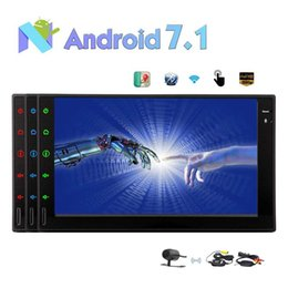 wifi speakers NZ - Android 7.1 Car Stereo 2GB+32GB Octa Core In Dash Navigation Double Din 7'' TouchScreen Radio Auto Car Audio Bluetooth WiFi Mirror Link