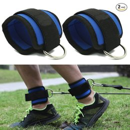 pedal pads NZ - 1pair Fitness Ankle Straps Practical Exercise Ankle Cuffs Padded Strap for Legs Abs and Gluteus Exercises Suit for Bands