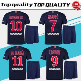 7 MBAPPE PSG home Soccer Jersey suit 18 19  10 NEYMAR JR Soccer Shirt kit  2019  9 CAVANI Paris Saint-Germain football uniform jersey+shorts 1b026228f