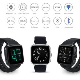 Smartwatch Gps Wifi Camera Australia - Smartwatch Original Android Smart Phone Z01 with 2.0MP Camera WIFI GPS Support SIM  TF Card for HUAWEI watch PK QW09
