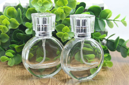 Perfume 25ml NZ - Wholesale Amazing Glass Refillable Bottles 25ml Empty Perfume Pump Bottles with Silver Sprayer and Clear Cap