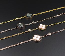 Women Monogram Bracelet France Agate Necklaces Paris Design Womens Wedding  Party Flower Pendant Necklace Woman L-logo Chain 61cc46eaf4