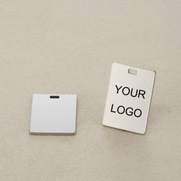 $enCountryForm.capitalKeyWord NZ - 19*21mm Stainless Steel Square Charm Custom logo pendant-Customized Charms Engrave Laser your own logo