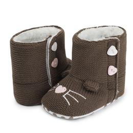 $enCountryForm.capitalKeyWord Australia - Winter Warm Unisex Crochet Knitted Baby Shoes Soft Sole Kids Footwear Boy Girls Anti-Slip First Walkers Snow Booties