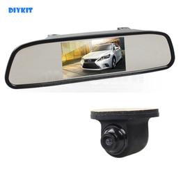 "Front View Parking Camera Australia - DIYKIT 4.3"" TFT LCD Display Car Monitor Rear View Mirror Monitor + Parking Camera Backup Rear   Front   Side View Camera"