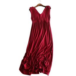 63a5460ed Vestidos de maternidad modal sin mangas del embarazo ropa para mujeres  embarazadas Vestido largo ropa Gravidas Vestidos Robe Grossesse