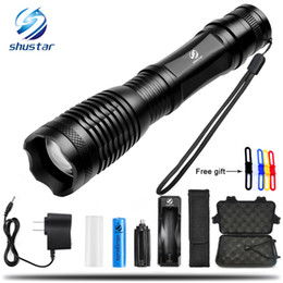 Xml q5 online shopping - XML T6 L2 LED Tactical Flashlight Lumens Porable Torch Mode Adjustable Focus Water Resistant use battery