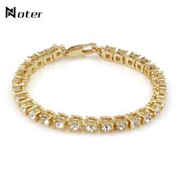 Bracelet Zirconia Silver Australia - Noter Luxury Cubic Zirconia Tennis Bracelet Charms Gold Silver Color Hip Hop Braclet For Mens Women Rock Jewelry Pulsera