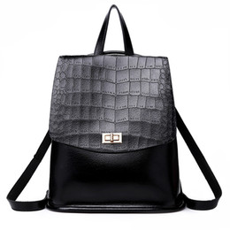 Fashion Style Women backpack Crocodile Pattern PU leather Doctor Women  Backpack Famous design shoulder Bags Women s Rucksack Bag 77b18508174e9