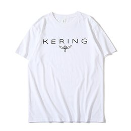 36963811c White T Shirt Style For Men Canada - Kering Printed White Black T-Shirt For