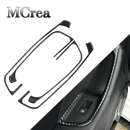 Audi door pAnel online shopping - MCrea Car Styling Trim Stickers For Audi A3 V Carbon Fiber Panel Door Lift Swift Decorative Strip on Cars Accessories