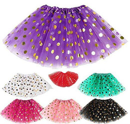 red white blue tutus Australia - DHL Free Gold polka dot girls tutu skirt christmas tutus kids tutu skirt baby toddler skirts red infant pettiskirt newborn photography props