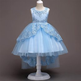 $enCountryForm.capitalKeyWord NZ - Girl Dresses with Beads And Embroidery Lace Dresses Sleeveless Formal Party Wedding Ball Gown Skirt Boat Neck Style