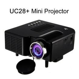 Usb sd portable mini online shopping - UC28 UC28 Portable D LED Projector Cinema Theater USB SD AV HDMI VGA Input Mini Multimedia Entertainment Pocket Beamer Black White