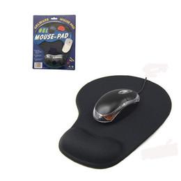 Protéger le poignet Optique Trackball PC Épaissir Tapis De Souris Soutien Poignet Confort Souris Tapis De Tapis Souris pour Jeu Noir en Solde
