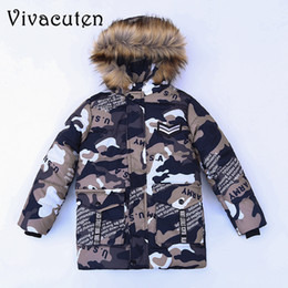 1e95724dee88 Children Teenage Boys Camouflage Parka Down Jacket Coats with Faux Fur  Hooded Winter Warm Thick Cotton Padded Coats Kids Clothes