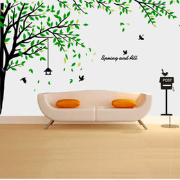 Wholesale Copper Kitchen Australia - Wholesale Dinosaur Grow Chart Tree Wall Stickers Wallpaper Wall Art for Home Decor Kitchen Accessories Household Crafts Suppllies