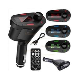 Cars Controller online shopping - LED LCD Car Wireless FM Radio Transmitter with USB SD MMC Audio Input Remote Controller with Retail Box