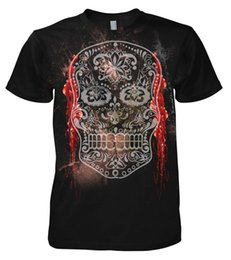 Gothic Style Clothes Australia - T Shirt Casual Men Clothing Rock Style Sugar And Skull - Santa Muerte T-Shirt Gothic Punk Rock N Roll