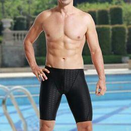 $enCountryForm.capitalKeyWord NZ - Hot Men Swimwear Powerful Black Mens Swimming Trunks Shark Skin Large Size Breathble Swimming Shorts For Men Adjustable Waist