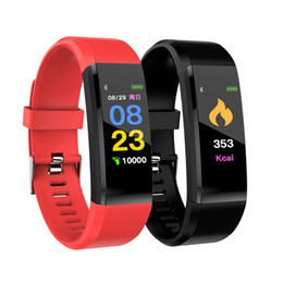 used mobile iphone 2019 - 115 Plus Smart Wristband For iPhone Android Smart Mobile Phone Message Reminder Touch Screen Colorful Bracelets