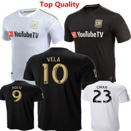 usa soccer uniforms NZ - Football Shirts 2018 LAFC Carlos Vela Soccer Jerseys Los Angeles FC Uniforms GABER ROSSI CIMAN ZIMMERMAN Black USA Ropa de fútbol Size 2-2XL