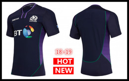 Wholesale body fit shirts resale online – Hot sales Best Quality new Scotland home Rugby Jerseys SCOTLAND RUGBY M18 HOME PRO SHIRT BODY FIT NAV PURP TGRN s xl