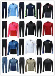 18 19 Real Madrid manga larga chaqueta traje inter Soccer Jersey hombre Utd  Messi blanco uniforme de entrenamiento 2018 chaqueta fútbol negro uniforme 7c92b9ee5ae57