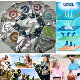 China Ice Cold Towel Cooling Summer Anti Sunstroke Sports Exercise Cool Quick Dry Soft Breathable Cooling Towel double layer 30*90cm cheap cool hairs suppliers