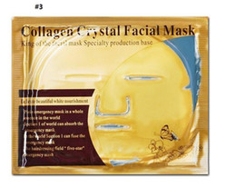 anti aging face masks UK - Cheap wholesale Gold Bio-Collagen Facial Mask Face Mask Crystal Gold Powder Collagen Facial Mask Moisturizing Anti-aging 24k Gold Masks