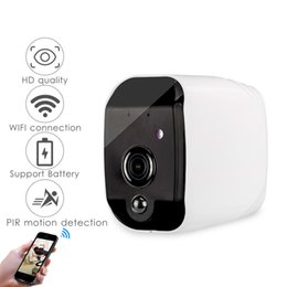 ip home alarm Australia - Smart Battery 720P HD WiFi IP Camera with Night Vision Motion Detect Audio suppor TF Card APP Alarm Push Home Camera