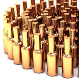 Ingrosso alta qualità 100pcs nebbia fine vetro flacone spray 50ml per profumo all'ingrosso, bottiglie di profumo di vetro dorato 50 ml di lusso spray