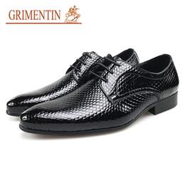 $enCountryForm.capitalKeyWord NZ - GRIMENTIN Hot Sale Mens Wedding Shoes Black Pointed Toe Men Oxford Shoes Genuine Leather Italian Fashion Formal Business Mens Dress Shoes
