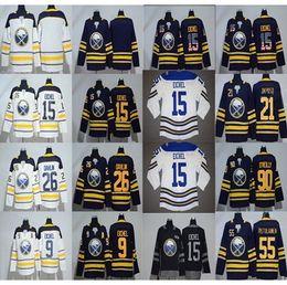 2018 Buffalo Sabres 15 9 Jack Eichel 26 Rasmus Dahlin Rasmus Ristolainen Sam  Reinhart Ryan O Reilly Winter Classic Hockey Jerseys Blue White 38e5b78d0