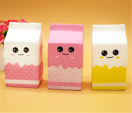 $enCountryForm.capitalKeyWord NZ - 2018 New Cute Jumbo Squishy Phone Straps Milk Box Carton Slow Rising Phone Straps Pendant Sweet Cream Scented Bread Kids Fun Toy Gift