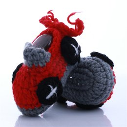 CroChet baby slippers online shopping - New Cute Newborn Baby First Walkers Slippers Knitted crochet Baby Shoes Wool photography Handmade Shoe props Soft Wool shoes