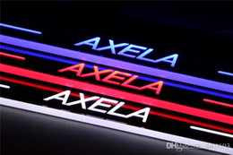 mazda pedals NZ - LED moving light scuff pedal for Mazda AXELA 2013-2015 car acrylic led door sill welcome pedal